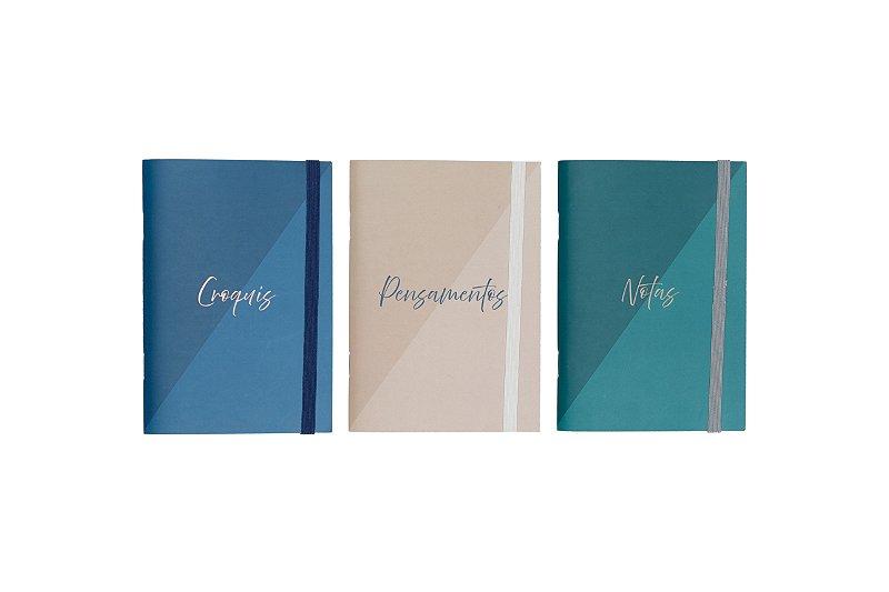 Trio de Cadernetas Flexíveis (BIG & REM & BAN)