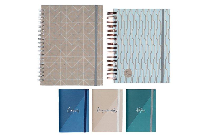 Kit Super Criativo Clássico (1 ArqPlanner + 1 Notebook + 1 Trio de Cadernetas)