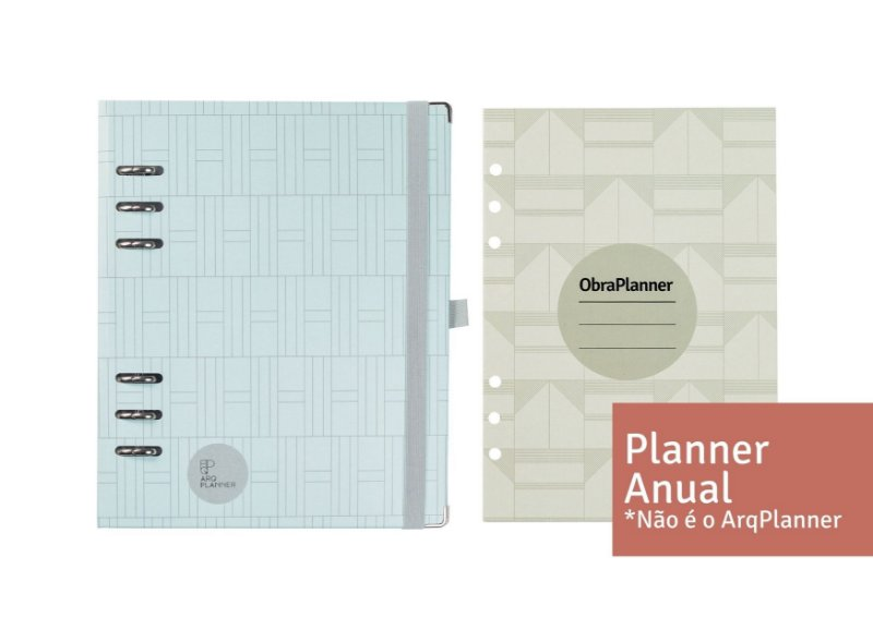 Kit Engenharia com Planner Anual (1 Planner Anual+ 5 ObraPlanners refil)