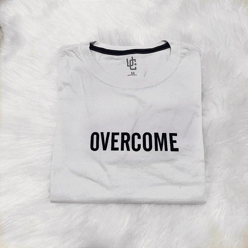 Camisa Camiseta OVERCOME Trefoil 35% OFF!!! Branca