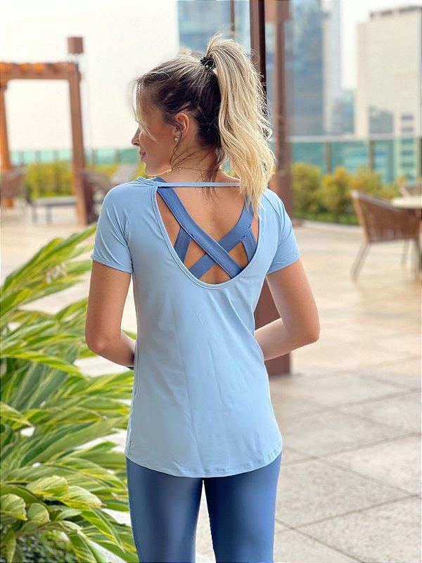 T-shirt Victória - Azul Candy