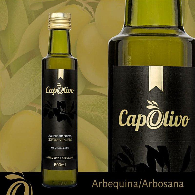 6 UNIDADES AZEITE CAPOLIVO EXTRA VIRGEM ARBEQUINA/ARBOSANA 500ml - Safra 2019