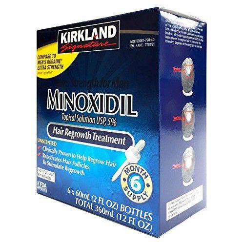 Kirkland Minoxidil 5% Líquido-6 meses*PRODUTO NO BRASIL!