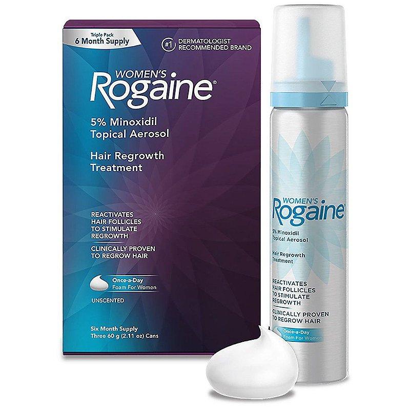Rogaine Women Foam Minoxidil 5% Espuma - 4 meses*PRODUTO NO BRASIL!