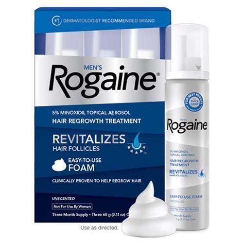Rogaine Foam Minoxidil 5% Espuma - 3 meses*PRODUTO NO BRASIL!
