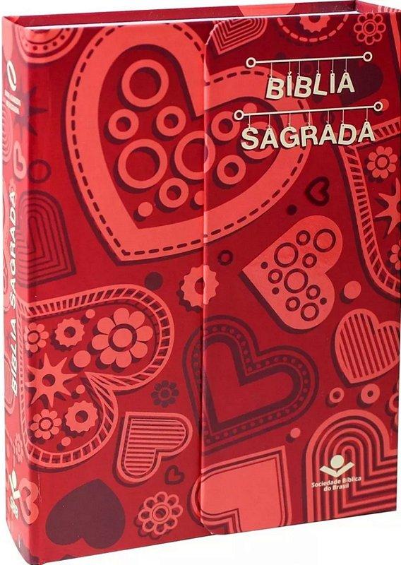 Biblia Sagrada Capa Dura Naa Com Imã Letra Gigante