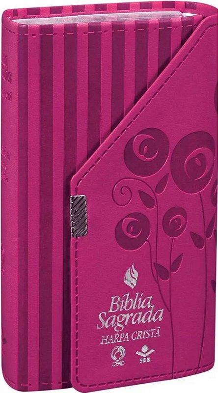 Bíblia Carteira com  Harpa Cristã Pink