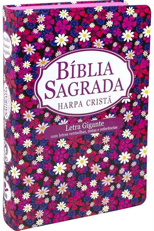 Bíblia Com Harpa Lt Gigante Letras Vermelhas