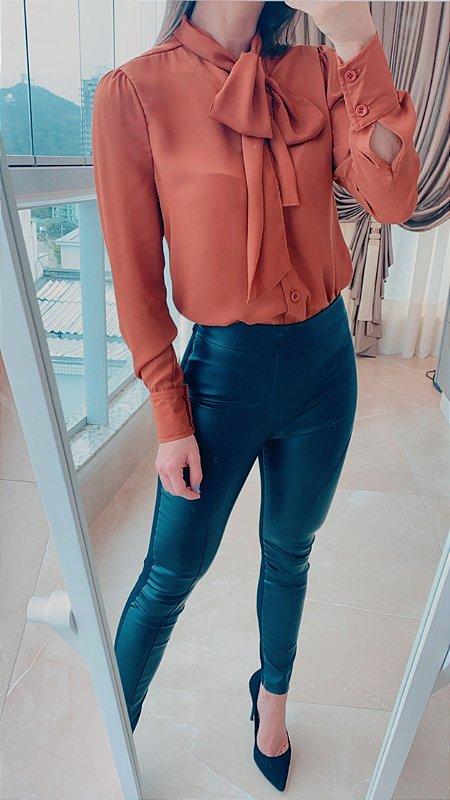 Camisa laço - Terracota