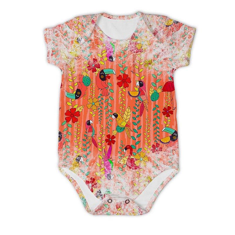 Body Bebê Manga Curta Arara