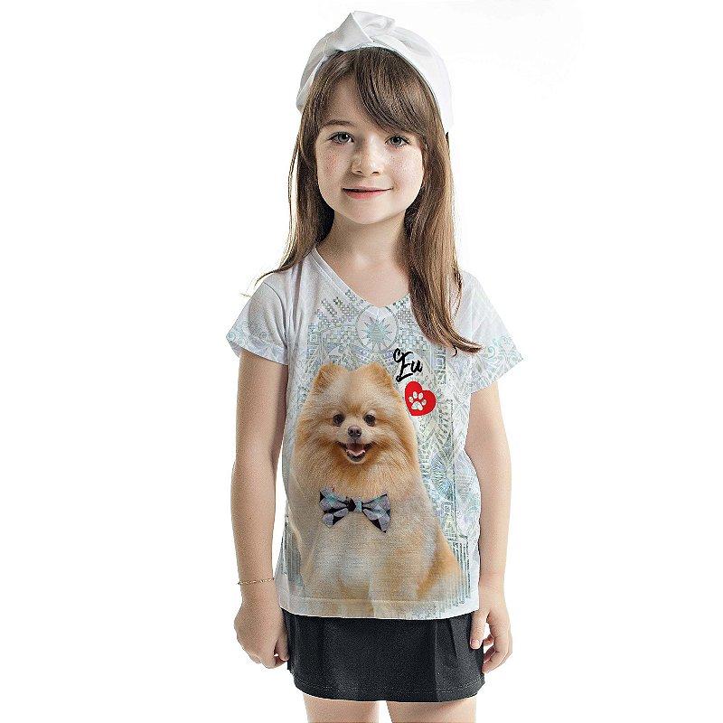 Blusa Florata Infantil Dog