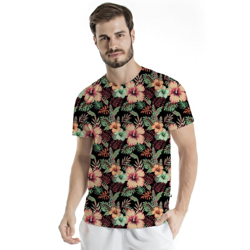 Camiseta Básica Adulto Flower