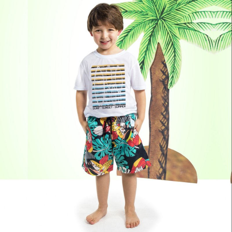 Camiseta Básica Infantil Surf