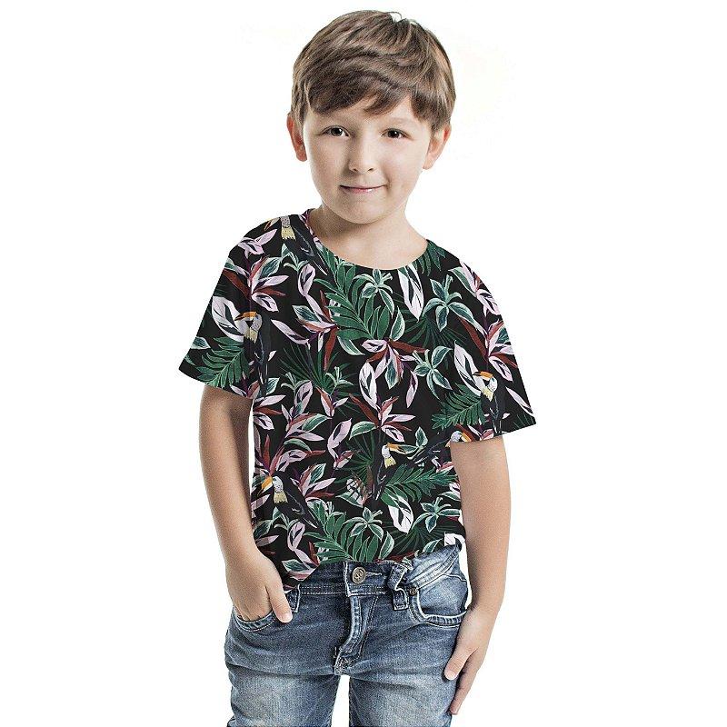 Camiseta Básica Infantil Floresta