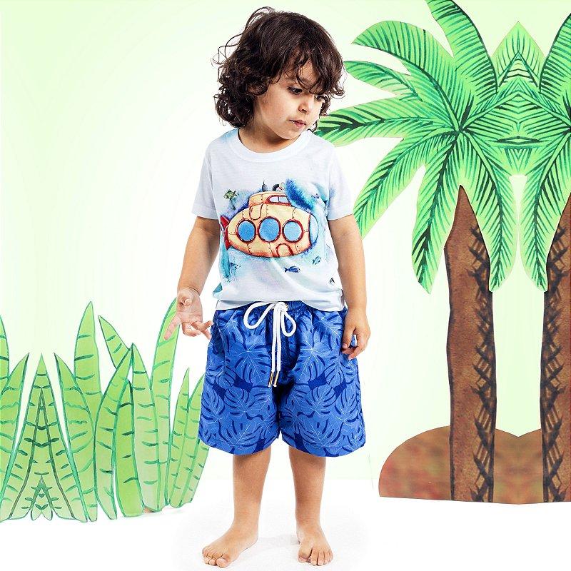 Camiseta Básica Infantil Submarino