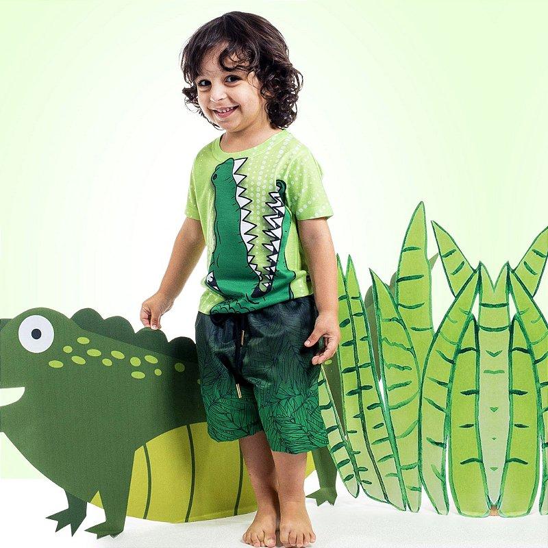 Camiseta Básica Infantil Jacaré