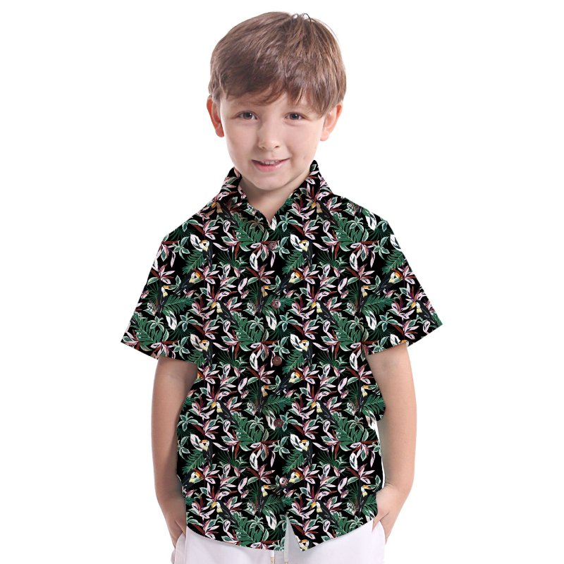 Camisa de Botão Infantil Floresta