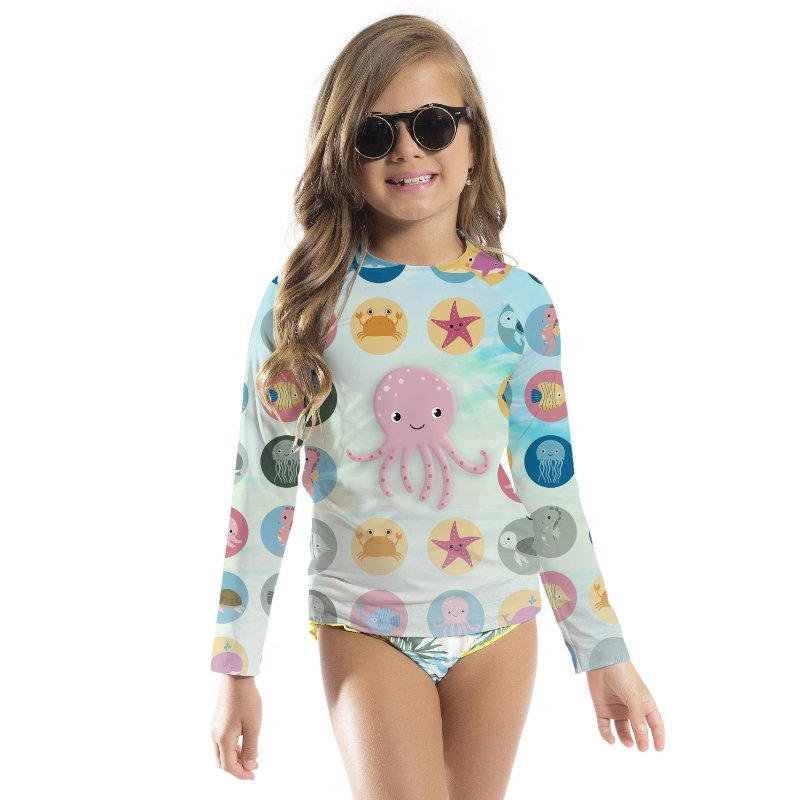 Blusa UV Infantil Unissex Polvo