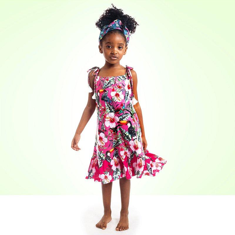 Vestido Curto Amora Infantil Tucano