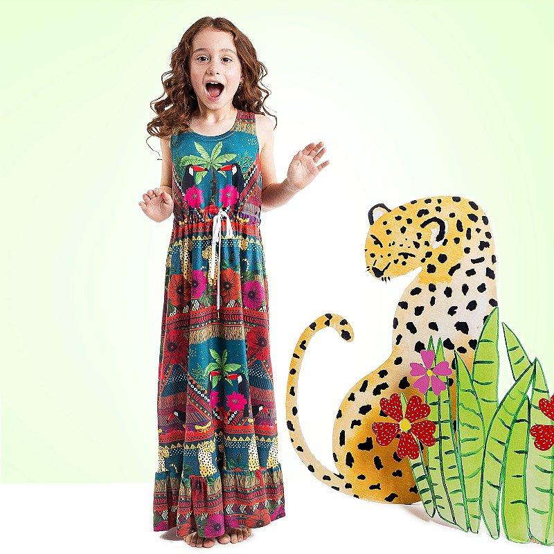 Vestido Longo Nina Infantil Coqueiro