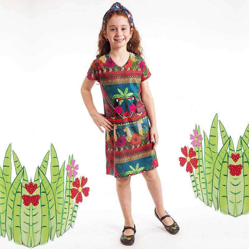 Vestido Curto Vanilla Infantil Coqueiro