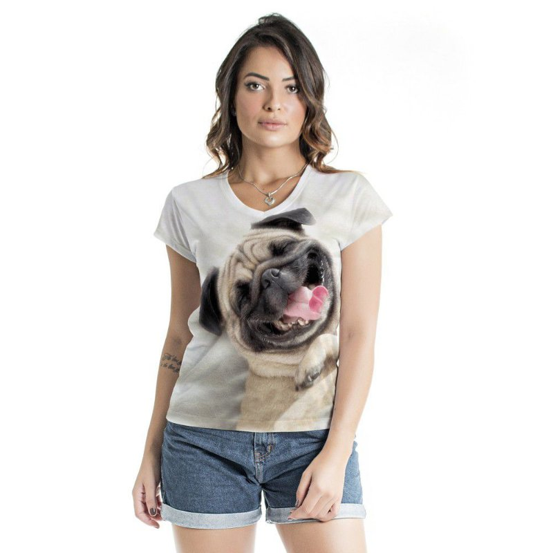 Blusa Florata Dog Happy