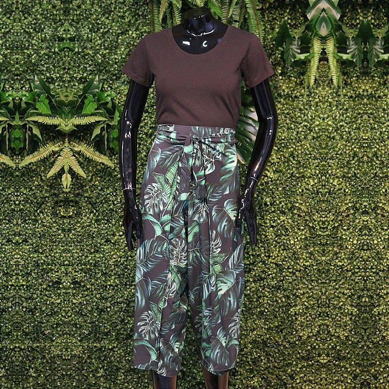 Calça Transpassada Costela de Adão Verde