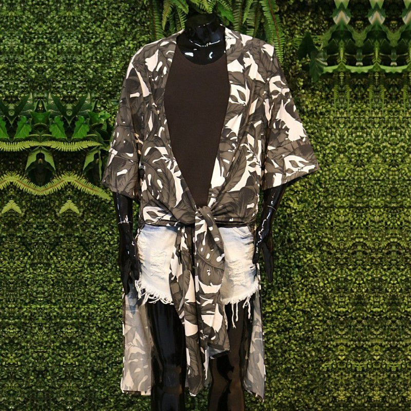 Kimono Atena Costela de Adão Black