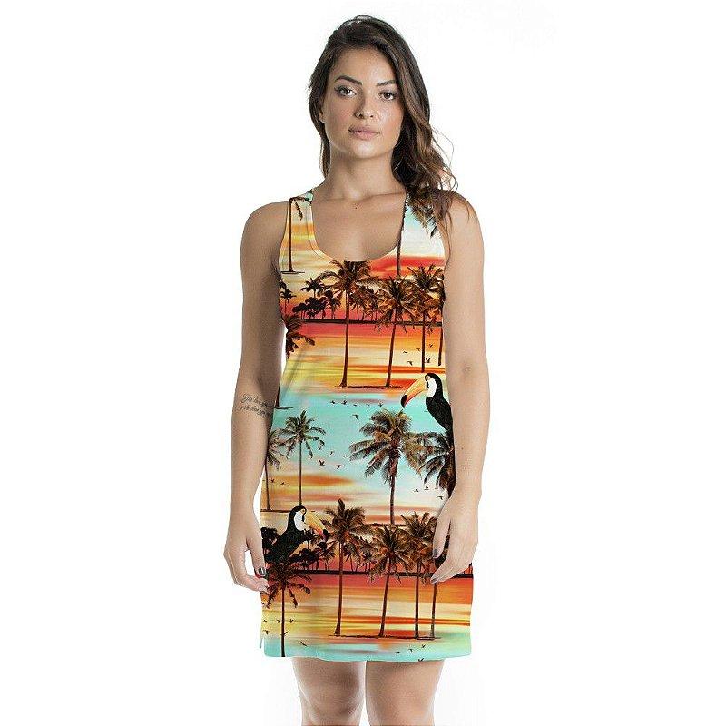 Vestido Curto Brisa Por do Sol