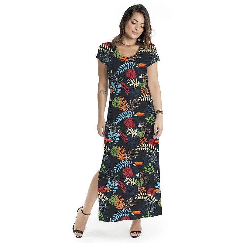 Vestido Longo Jeri Tucano