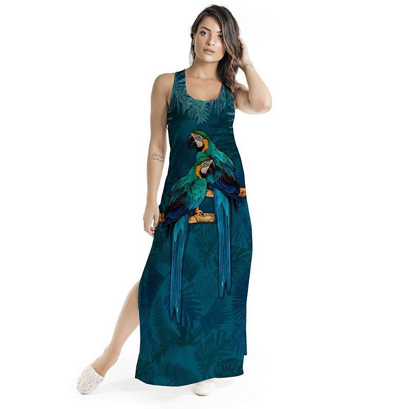 Vestido Longo Tulipa Casal de Araras
