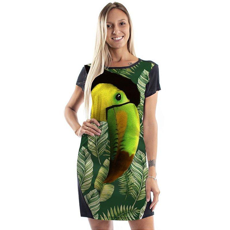 Vestido Curto Mullet Verde Tucano Frontal