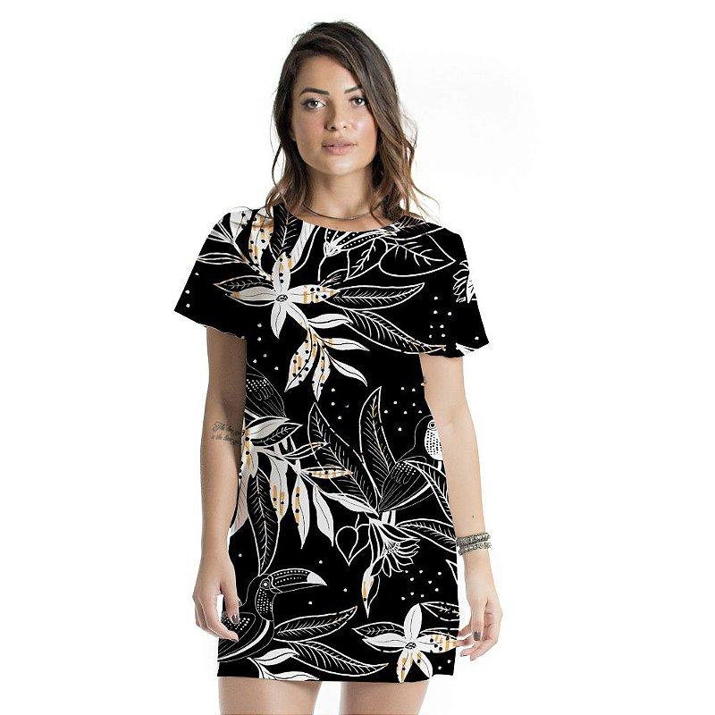 Vestido Curto Atena Tucano Floral Black