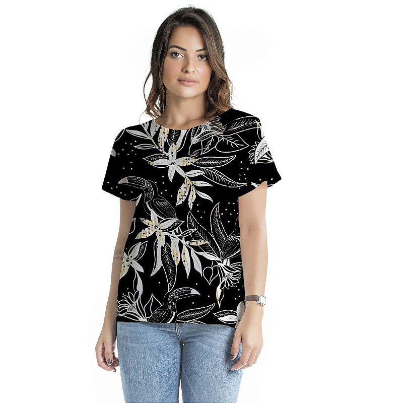 Blusa Atena Tucano Floral Black