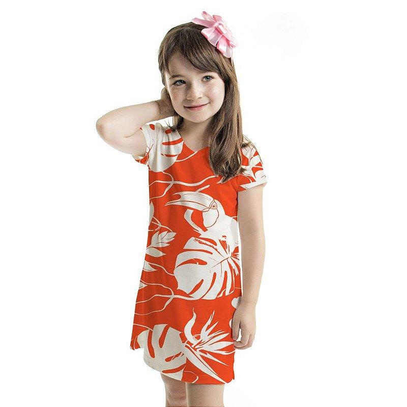 Vestido Curto Vanilla Infantil Vermelho Costela de Adão