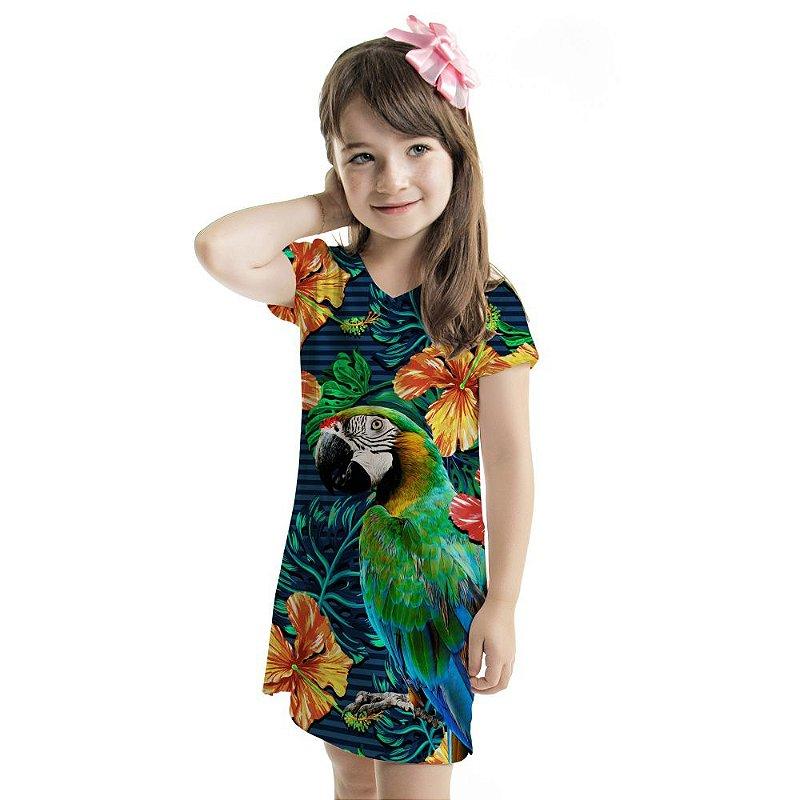 Vestido Curto Vanilla Infantil Tucano Pontilhados