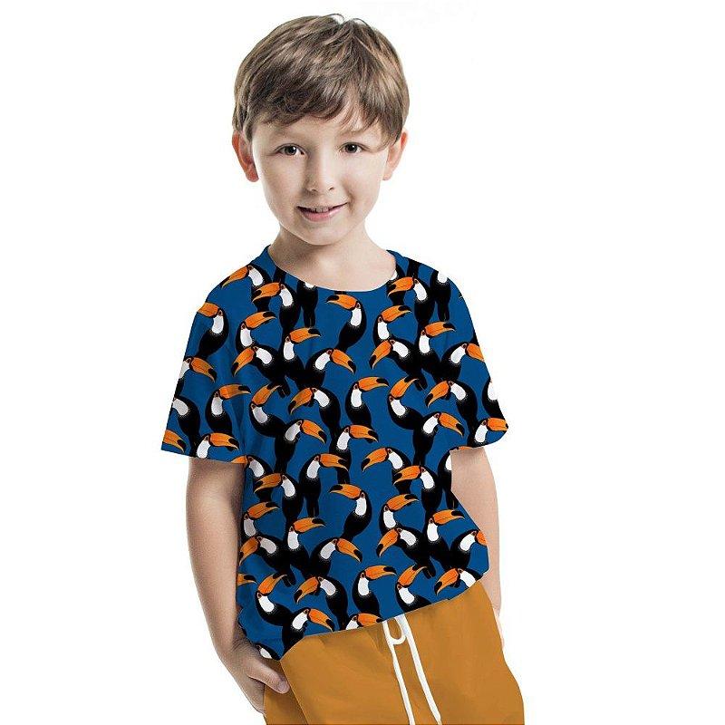 Camiseta Básica Infantil Tucano Total Print