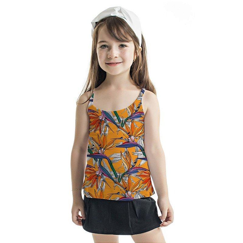 Regata Summer Infantil Estreliças Coloridas