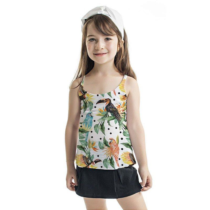 Regata Summer Infantil Tucanos e Araras Azuis
