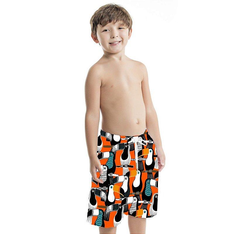 Bermuda Masculina Infantil Tucanos Pontilhado