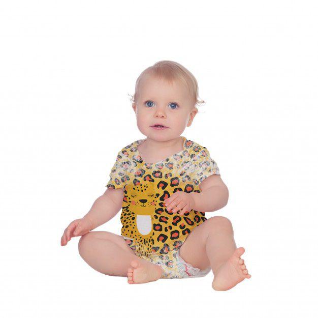Body Bebê Manga Curta Oncinha