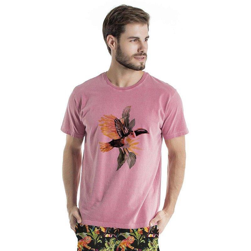 Camiseta de Algodão Estonada Vinho Tucano