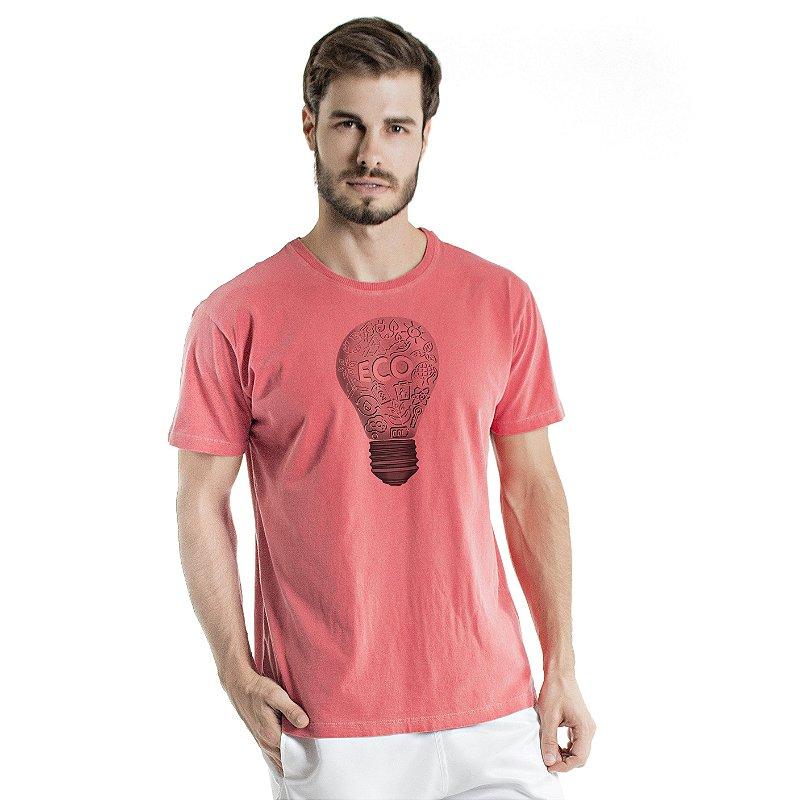 Camiseta de Algodão Estonada Coral Eco Luz