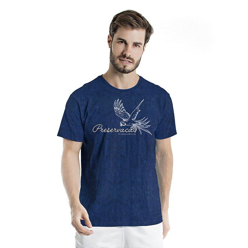 Camiseta de Algodão Estonada Marinho Sky Preservação