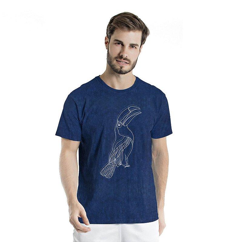 Camiseta de Algodão Estonada Marinho Sky Tucano Centralizado
