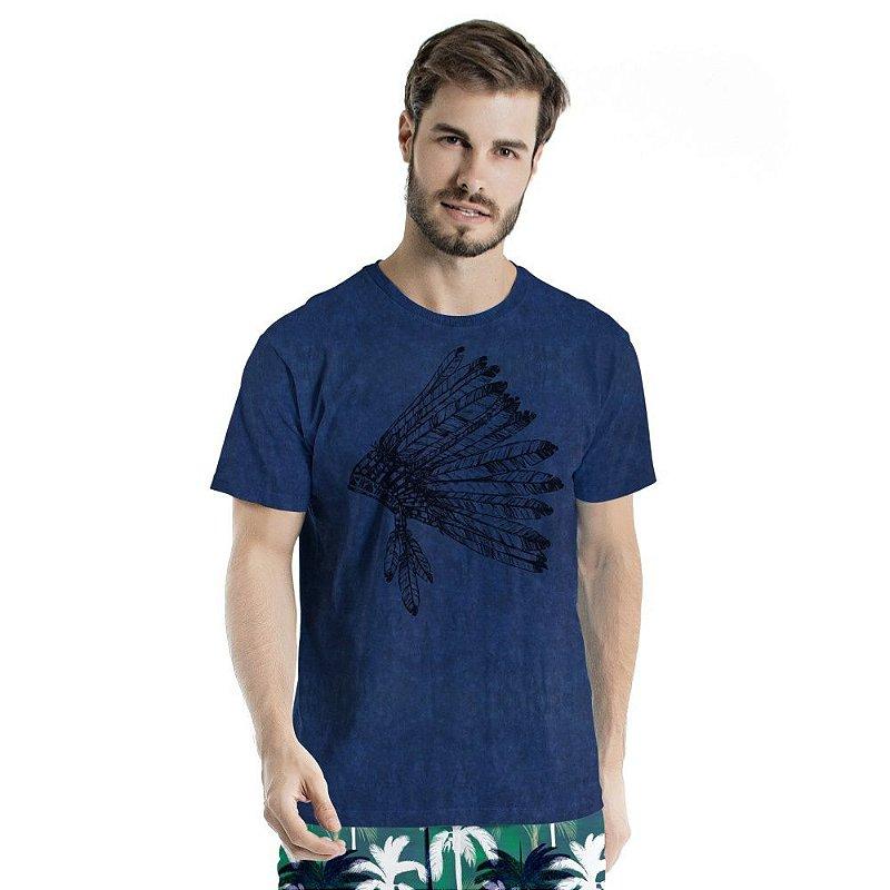 Camiseta de Algodão Estonada Cocar