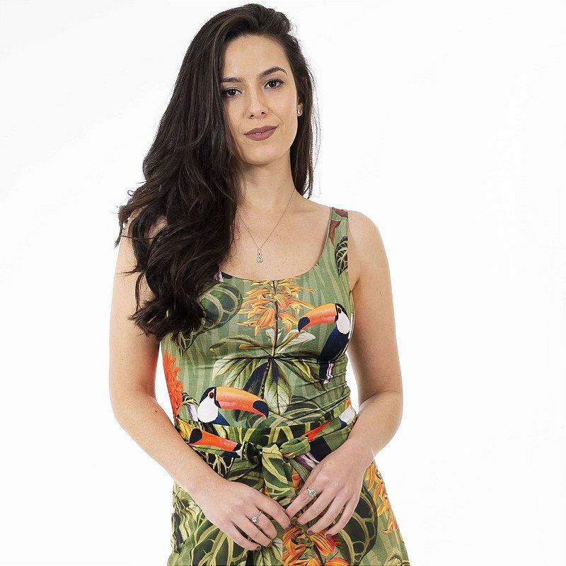Body Feminino Verde Militar e Tucanos