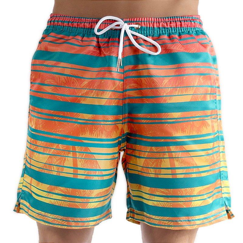 Bermuda Masculino Adulto Listras Verão