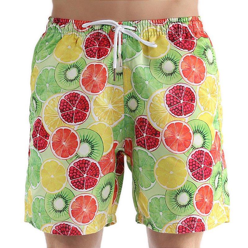 Bermuda Masculina de Praia Adulto Frutas