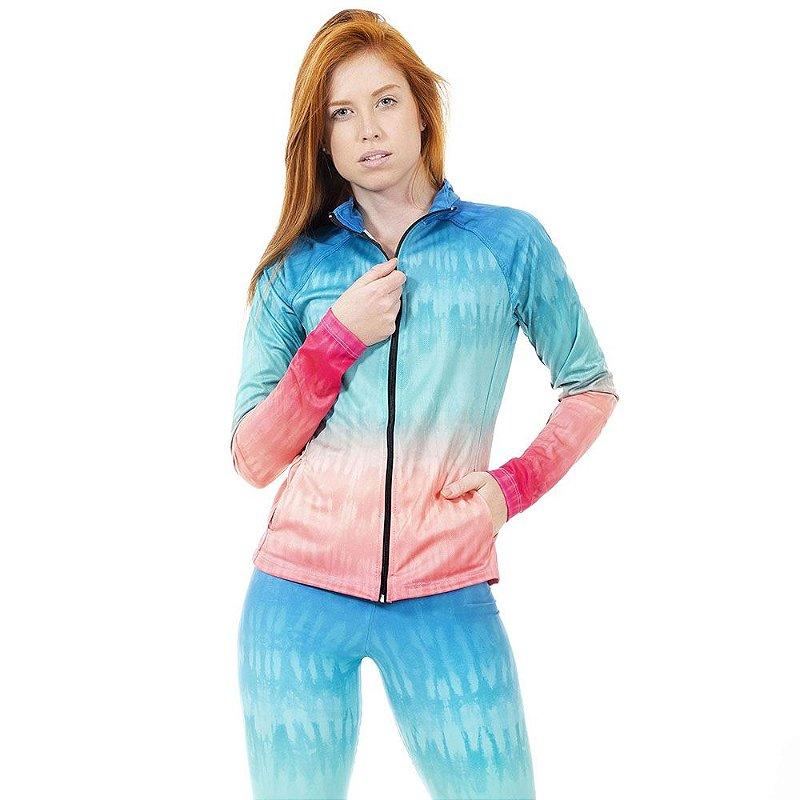 Jaqueta Fitness Tie Dye Degradê